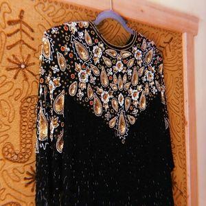 🌼VTG Beaded Statement Dress